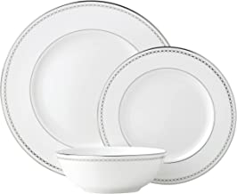 Lenox Pearl Platinum 3 Piece Place Setting dinnerware sets