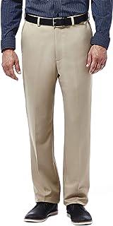 Haggar Men's Cool 18 Hidden Comfort Waist Flat Front Pant