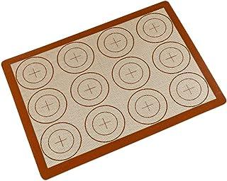 BESTonZON Tapis de cuisson en silicone résistant à la chaleur en fibre de verre pour macarons (40,6 x 29,5 x 0,07 cm)