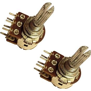5x Potentiometer POTI B5K OHM Drehpotentiometer 3-Pin Stereo Linear Rotary Audio