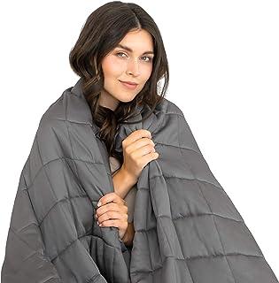 Dreamzie - Gewichtsdecke - 140 x 200 cm - 4 kg - Für Betten 140 - Außenstoff 100% Bambus - Oeko-TEX