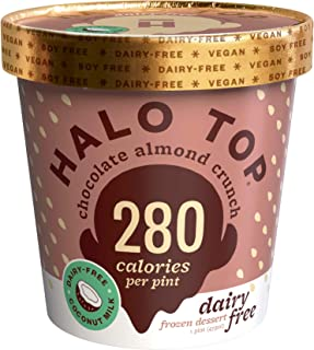 Halo Top, Dairy-Free Chocolate Almond Crunch, Pint (4 count)