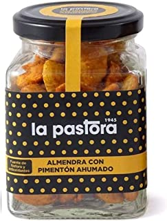 Fried Almonds with Smoked Paprika - 150 Grams - Spanish Fried Almonds - Nuts - Smoked Touch - Crunchy Texture - Low-Sodium...