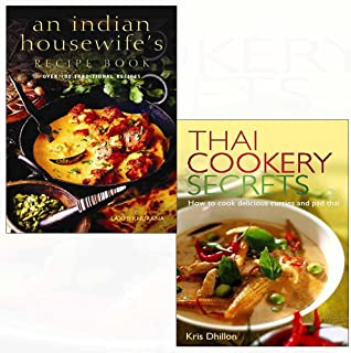 Indian housewife's recipe book, thai cookery secrets 2 books collection set