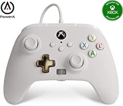 PowerA Controller giochi cablato avanzato per Xbox, gamepad, Xbox Series X|S, Bianco