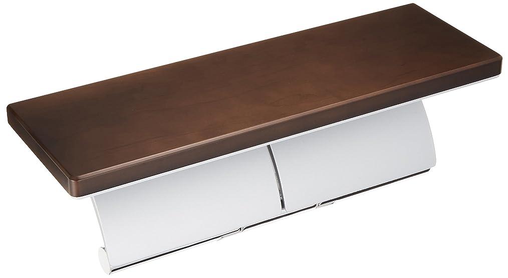 チューリップ狂気乱すTOTO 二連紙巻器 棚付き(天然木) メタル製(マット) ダルブラウン YH63BKM#MWW 芯棒可動式
