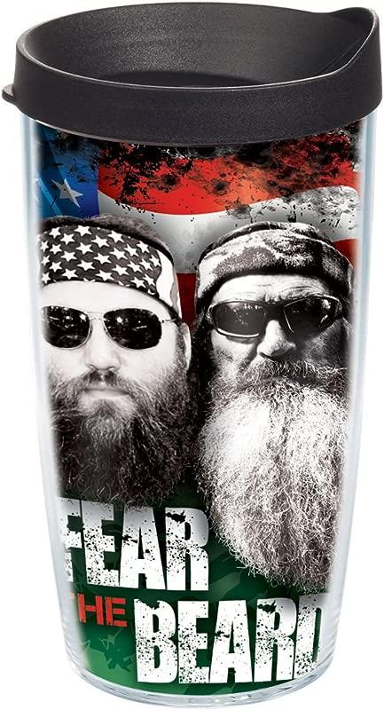Tervis Duck Commander Fear The Beard 16oz Tumbler Dynasty Drinkware DUCO I 16 FTBE WRA