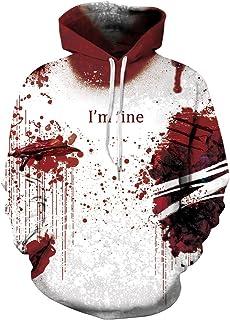 Men's Hoodies Sweatshirt Funny 3D Print Long Sleeve Pullovers