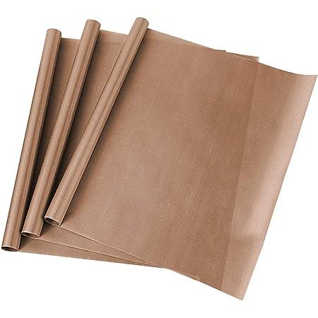 ss shovan Papier Cuisson Réutilisable, 3 Pcs Teflon en PTFE 40 X 50 cm Papiers de Cuisson Durables Lavable Découpables Résistant Tapis pour Four, découpables Tapis de Cuisson, Feuilles de Cuisson