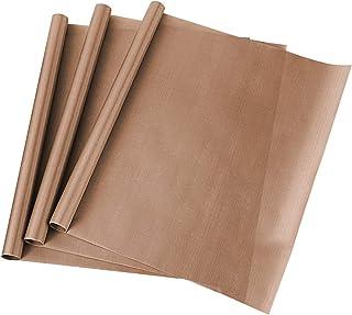 ss shovan Papier Cuisson Réutilisable, 3 Pcs Teflon en PTFE 40 X 50 cm Papiers de Cuisson Durables Lavable Découpables Rés...