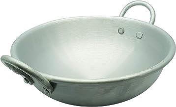 RAJ ALUMINIUM WASH KADAI COOKING POT, 38 CM, SILVER, RKWK14, 1 PC