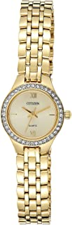 Citizen Women Off White Dial Stainless Steel Band Watch - Ej6142-51P