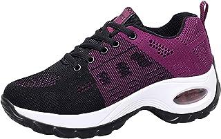 2019 Zapatos cuña Mujer Zapatillas de Deportivas Plataforma Mocasines Primavera Verano Planas Ligero Tacon Sneakers Cómodo...