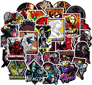 Laptop Stickers for The Avengers Superheros[100PCS], Cool Comics Vinyl Decals for Hydro Flask Water Bottles MacBook Pad Phone Case Computer Bumper Skateboard Luggage, Graffiti Sticker for Kids, Adult