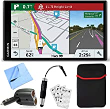 Garmin RV 770 NA LMT-S RV Dedicated GPS Navigator Essential Camping Accessory Bundle includes Car Charger, Cleaning Cloth, Screen Protectors, Hardshell Case and Bamboo Stylus Mini