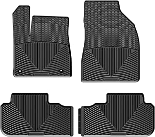 WeatherTech All-Weather Floor Mats for Toyota Highlander - 1st & 2nd Row (Black)