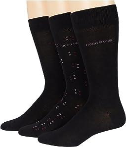 3-Pack Gift Set Combed Cotton Socks