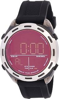 ساعة كروشر الرقمية للرجال من ديزل، لون اسود، DZ1893