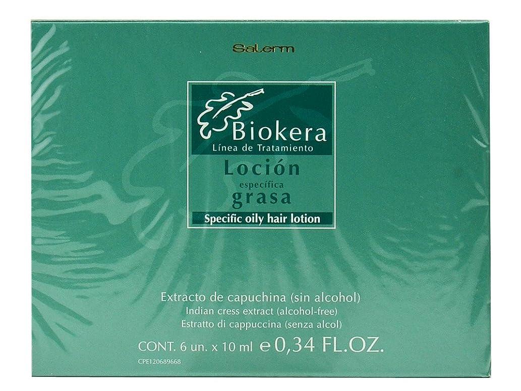 ビバハンカチおとこSalerm インディアンクレスとBiokera特定オイリーヘアーローションエキス0.34オンス×6