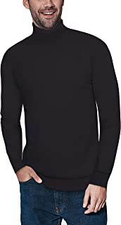 Sponsored Ad - XRAY Turtleneck Mock Neck Sweater for Men – Slim Fit Pullover with Roll Collar