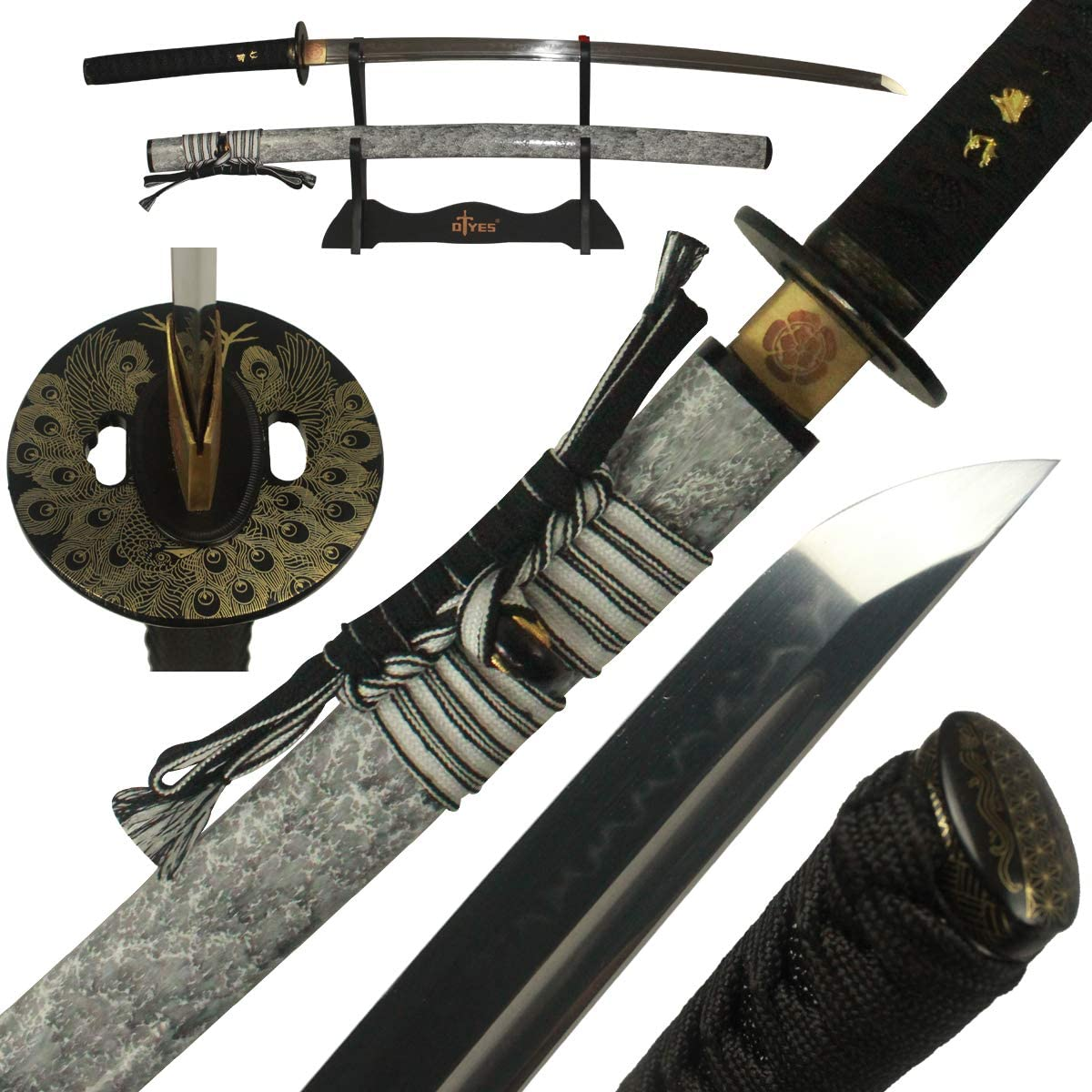 DTYES Full Handmade T10 Clay Award Tempered Sharp Sword Ja Real Katana Limited time for free shipping