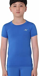 Kids Compression Shirt Underwear Boys Youth Under Base Layer Short Sleeve Top SK