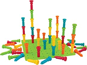 PlayMonster Lauri Deluxe Tall-Stackers - Pegs & Pegboard Set, Multi, Model: 2446