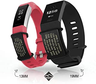 Road ID Official Sidekick for Fitbit + Garmin - Identification Bracelet and Sport ID for Athletes