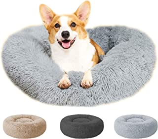 Sponsored Ad - Perfectmiaoxuan Round Donut Cuddler Cat and Dog Bed,Non-Slip Bottom Soft Plush Pet Cushion,Super Soft Fluff...