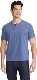 Jericho - Men's Henley, Short Sleeve, Twilight Blue