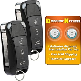 Discount Keyless Entry Remote Control Car Key Fob Clicker For Porsche KR55WK45032 (2 Pack)