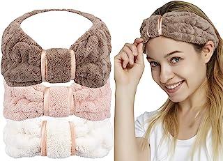 HOPESHINE Spa Facial Headband for Washing Face Makeup Terry Cloth Headbands Elastic Head Wrap...