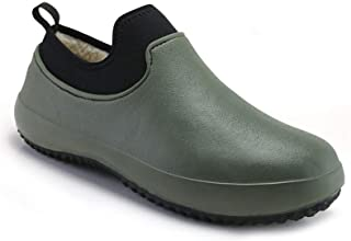 Vtops Unisex Adult Non-Slip Chef Shoes for Work Kitchen Safety Slip Resistant Winter Lined Boots Work Clog Slip Resistant ...