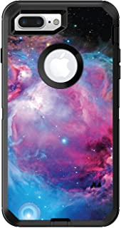 DistinctInk Custom Skin/Decal Compatible with OtterBox Defender for iPhone 7 Plus / 8 Plus - Purple Blue Black Orion Nebula - Show Your Love of Astronomy