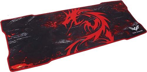WAR HAMMER GX1050 Speed Type Gaming Mousepad (XL, Black/Red)