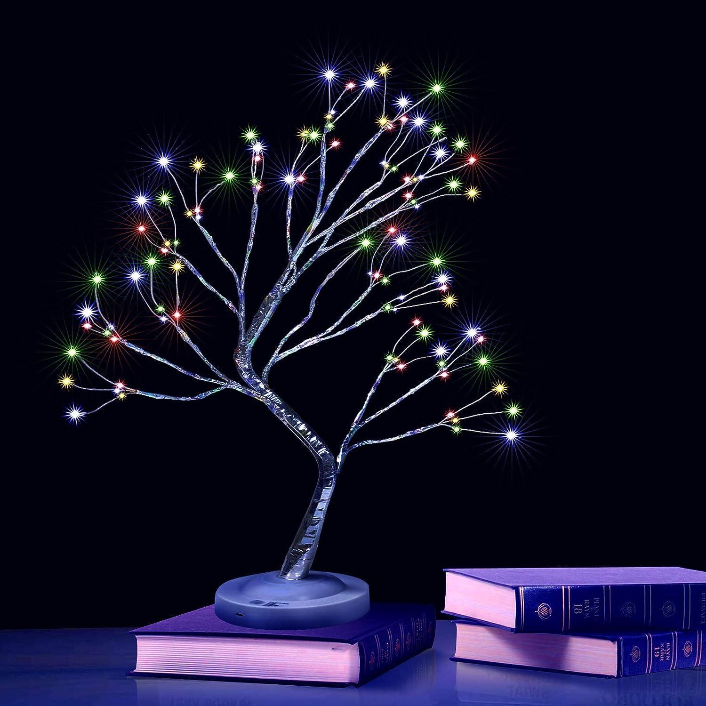 Bonsai Tree Light DIY Max 49% OFF wholesale Led Table Lights Lamp Wit Desk