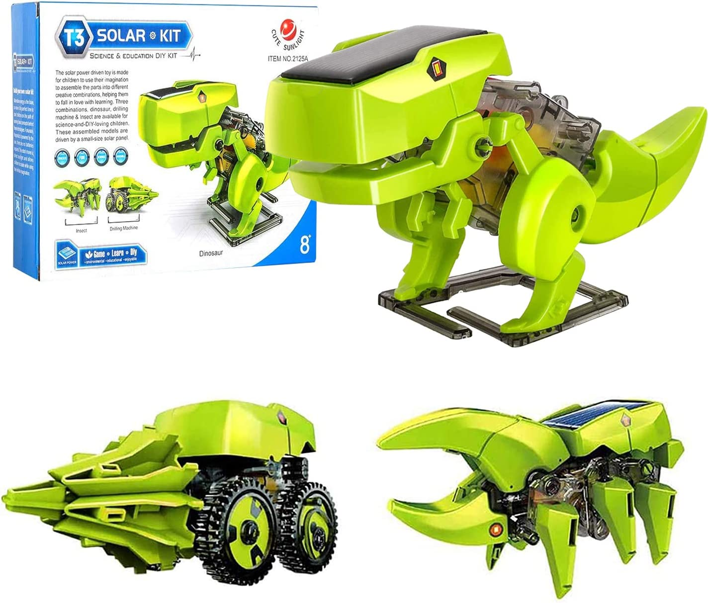 3-in-1 Science 70% OFF Outlet Robot Building Kit Build STEM Di Toys Tampa Mall Power Solar