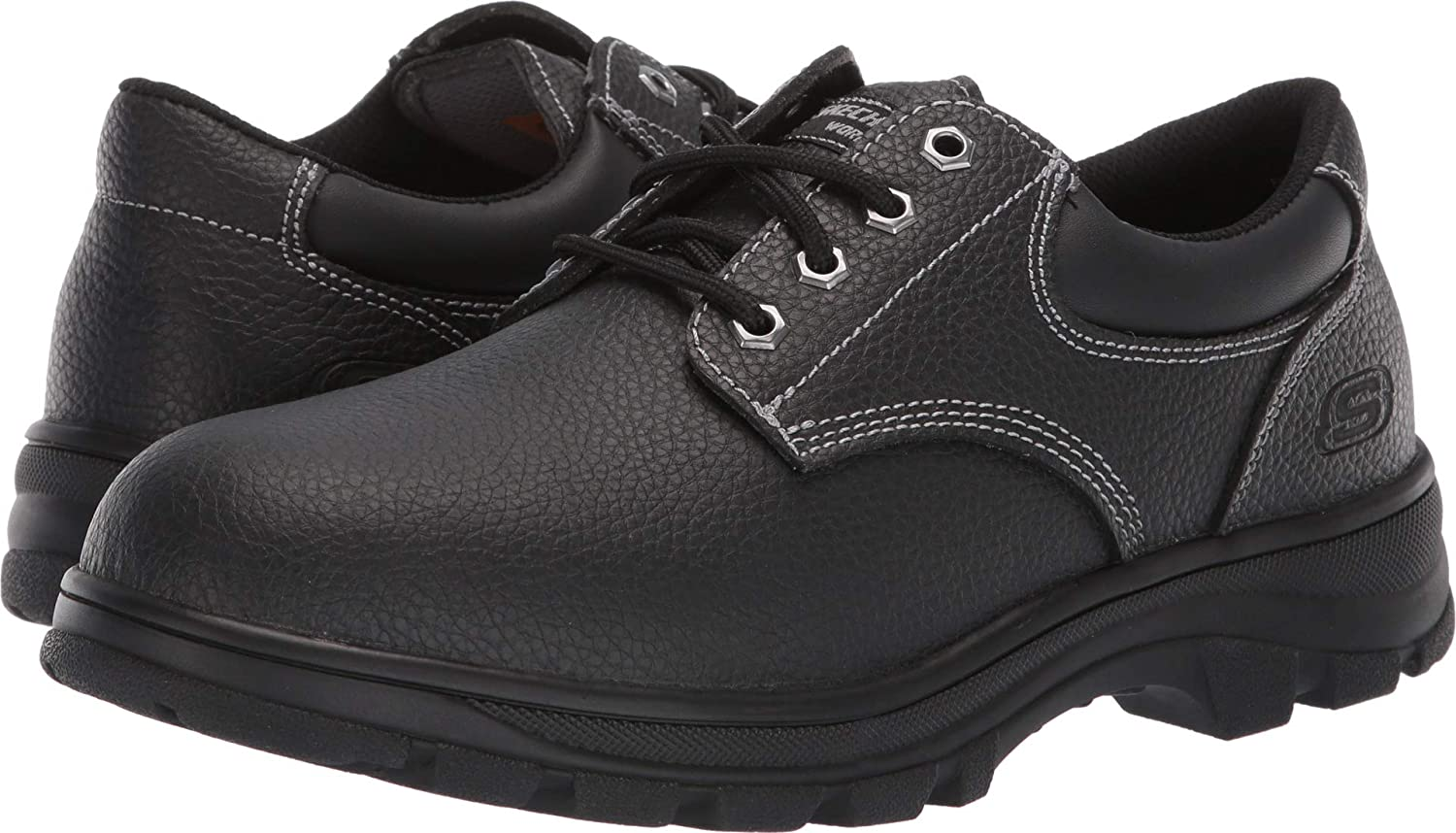 Skechers Work Relaxed Fit Workshire Conwy Mens Oxfords Black