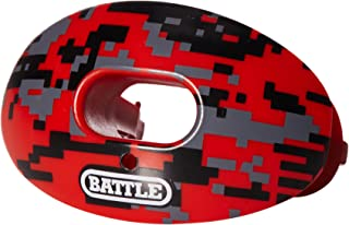 Battle Oxygen Lip Protector Mouthguard – Football and Sports Mouth Guard – Maximum Oxygen – Mouthpiece Fits With or Without Braces – Absorber Shield Protects Lips and Teeth, Limited Edition Camo Print