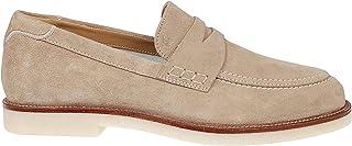 Luxury Fashion | Hogan Men HXM4560BO40HG0C609 Beige Suede Loafers | Spring-summer 20