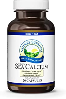 Nature's Sunshine Sea Calcium, 120 Capsules, Promotes Bone and Teeth Health, Offsets Body Acidity, and Helps Maintain PH Levels