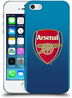 Official Arsenal FC Away 2017/18 Crest Kit Soft Gel Case Compatible for iPhone 5 iPhone 5s iPhone SE