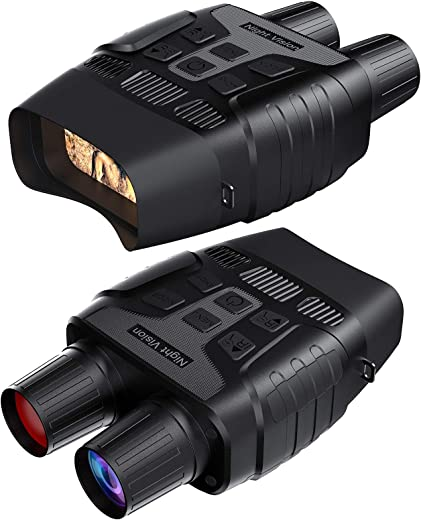 GTHUNDER Digital Night Vision Goggles Binoculars for Total Darkness—Infrared Digital Night Vision Large Viewing Screen, 32GB Memory Card for Photo and Video Storage—Perfect for Surveillance