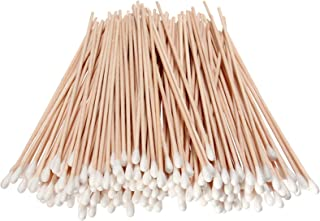 500PCS Cotton Tips Swabs For Cotton Pads & Rounds, Wooden Long Makeup Eraser Stick,Sterile Baby Nail & Ear Face Cream Ball...