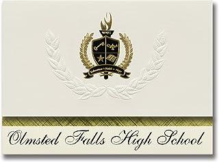 Signature Ankündigungen OLMSTED Falls High School (OLMSTED fällt, oh) Graduation Ankündigungen, Presidential Stil, Elite Paket 25 Stück mit Gold & Schwarz Metallic Folie Dichtung B078VFM2K1  Bevorzugtes Material