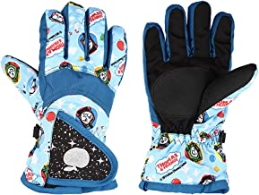 Toddler Gloves, Waterproof Winter Gloves for Kids, Mittens for Toddler Hiking, Cycling, Thinsulate Insulated Winter Snow Gloves Boys Girls, 4-7 Years Adjustable Buckle Resistant Snowboard Ski Gloves
