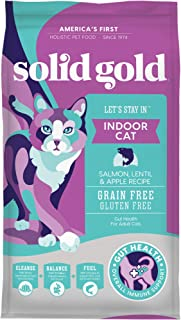 Solid Gold - Let'S Stay In Salmon - Grain-Free - Indoor Formula Dry Cat Food with Superfoods - Hairball Control - Protecte...