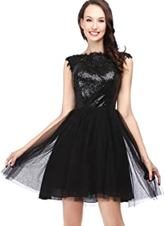 Black Tulle Homecoming Dresses 2018 for Juniors Short Prom Party Dress A Line Ball Gown