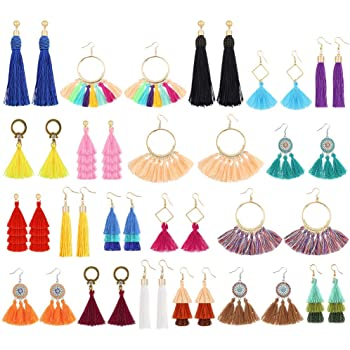 Colorful Bohemian Feather Dangle Drop Earring Gifts for Women Girls Jewelry000001000289
