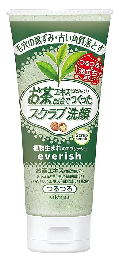 フローティング忌まわしい赤面everish(エブリッシュ) お茶スクラブ洗顔 130g